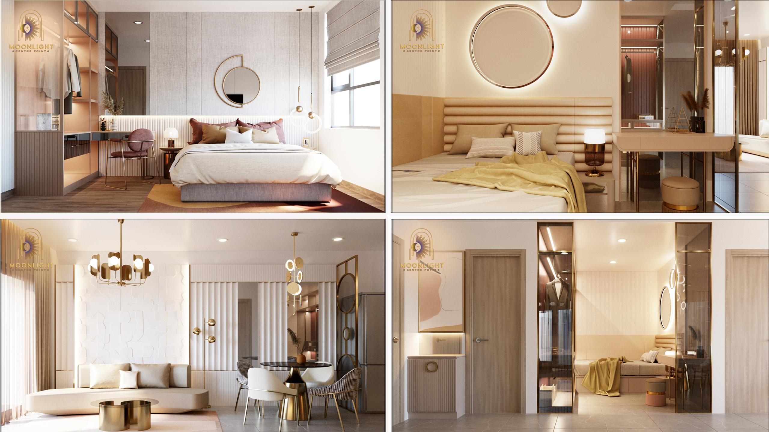 Moonlight Centre Point - Thiết kế nội thất căn 1PN +