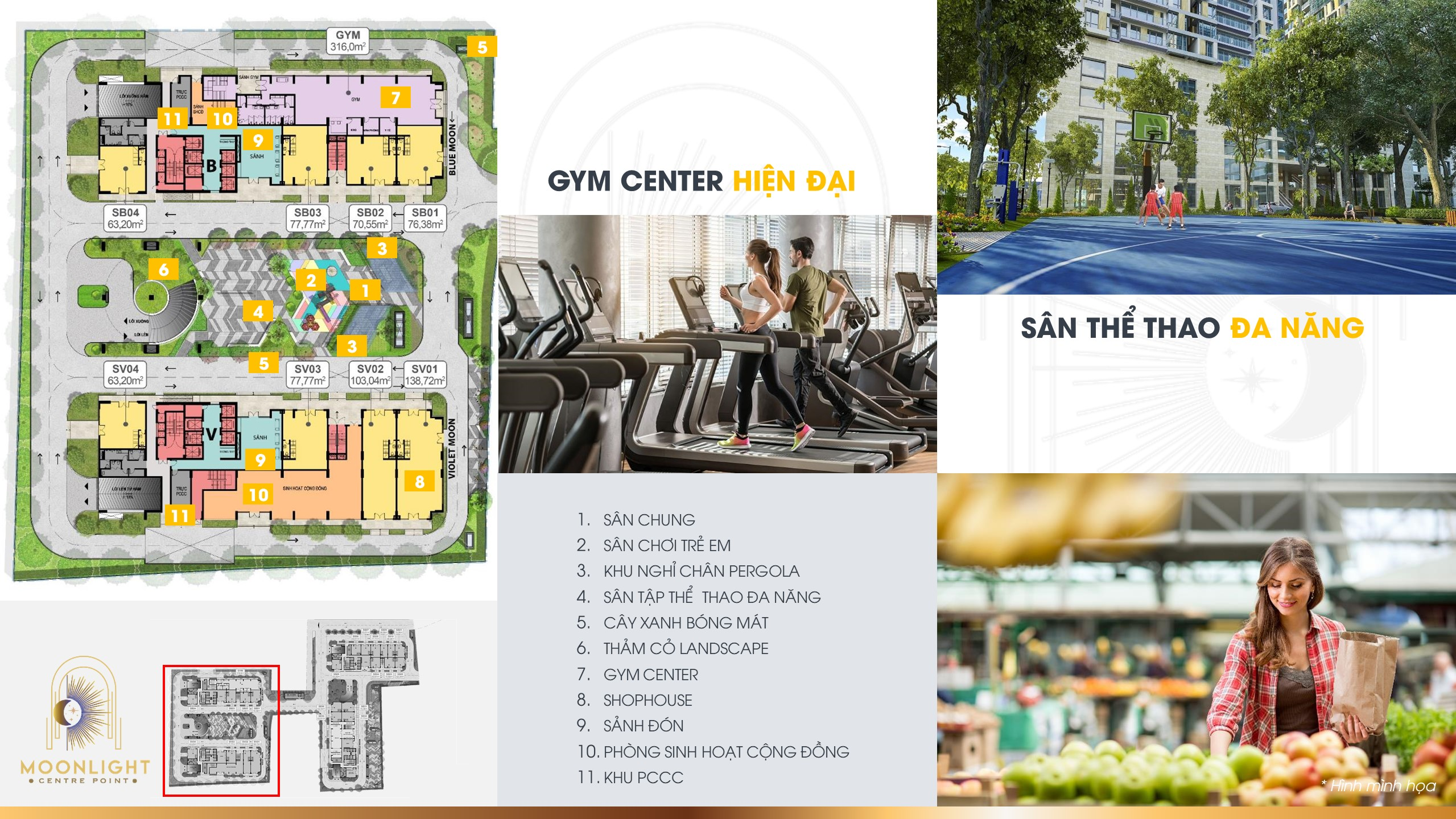 """Cùng nhau rèn luyện sức khoẻ cùng với hệ thống """" Gym Center """" hiện đại và Sân thể thao """" Đa Năng"""""""