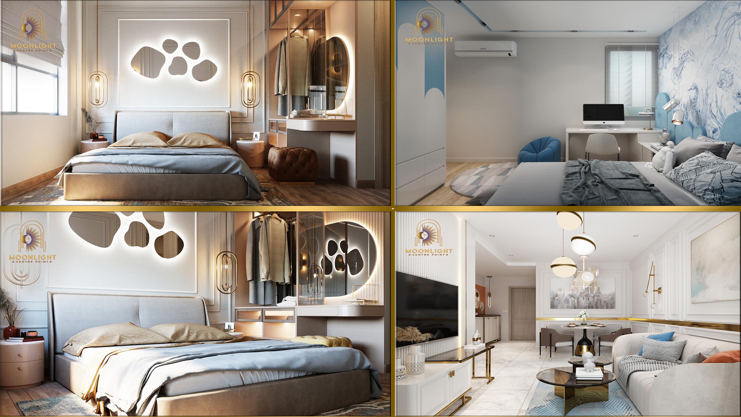 Moonlight Centre Point - Thiết kế nội thất căn 2 Phòng ngủ